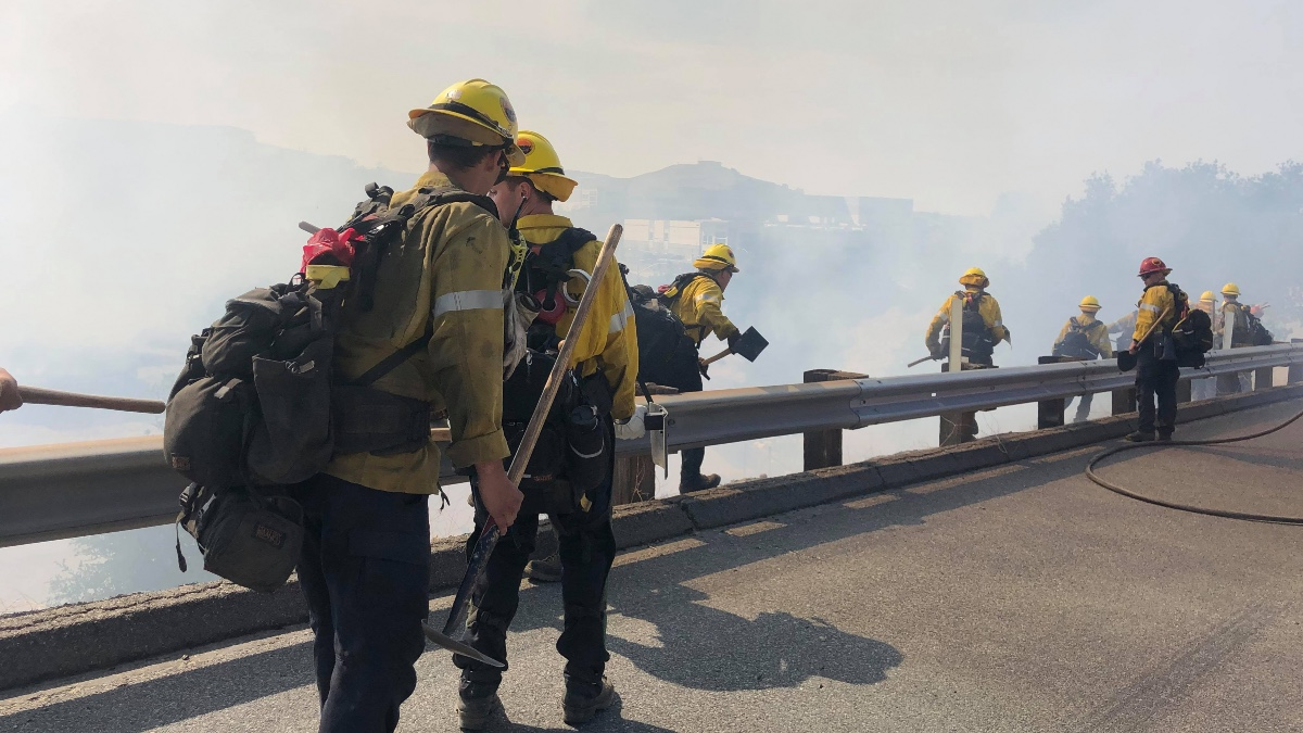 Newhall Pass Fire 14 Freeway Fire 1