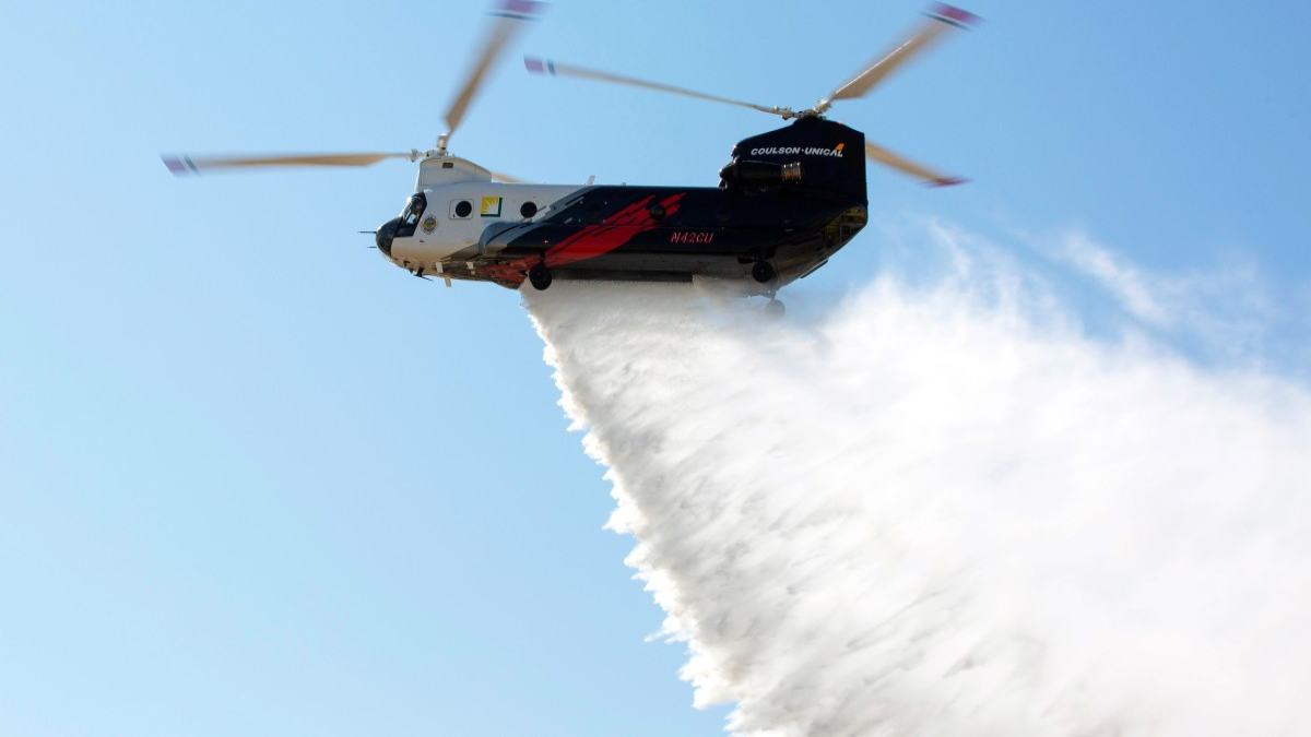 Edison Chinook Helicopter LA County Fire